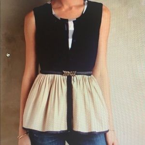 Anthropologie Moth NWT Small detailed top❤️
